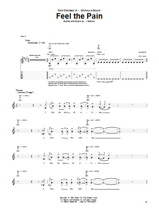 Feel The Pain sheet music