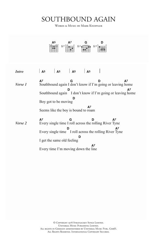 Southbound Again sheet music