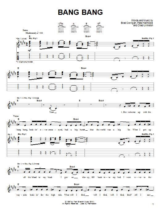 Bang Bang sheet music