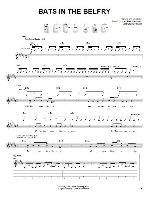 Bats In The Belfry sheet music