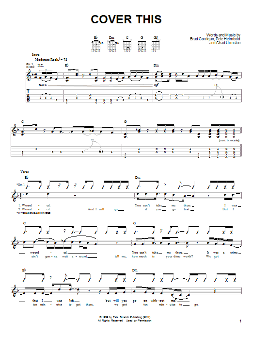 Cover This sheet music