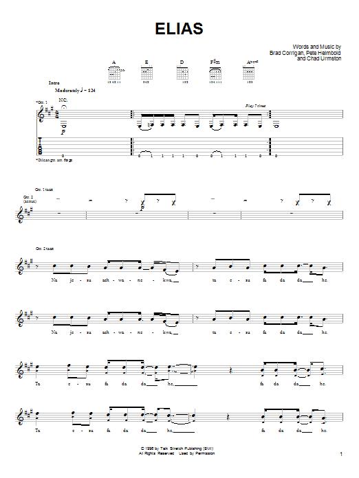 Elias sheet music