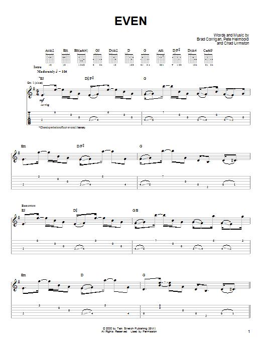 Even sheet music
