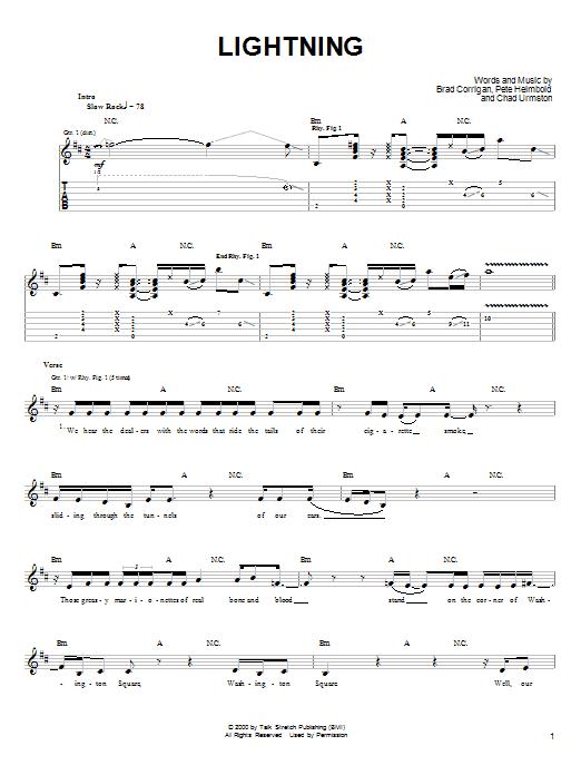 Lightning sheet music