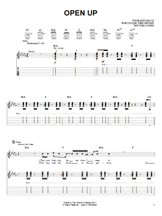 Open Up sheet music