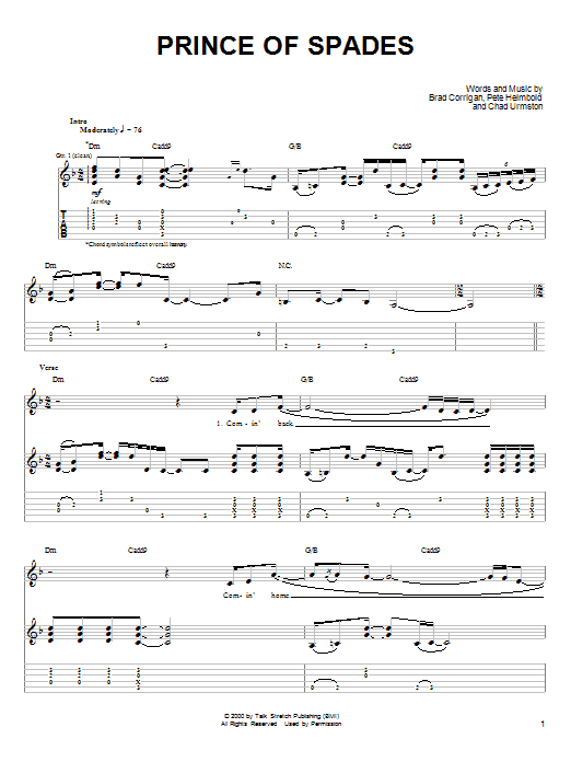 Prince Of Spades sheet music