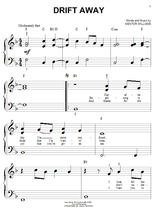 Drift Away sheet music