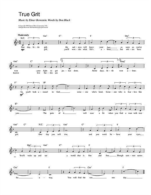 True Grit sheet music