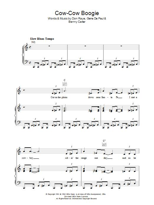 Cow-Cow Boogie sheet music