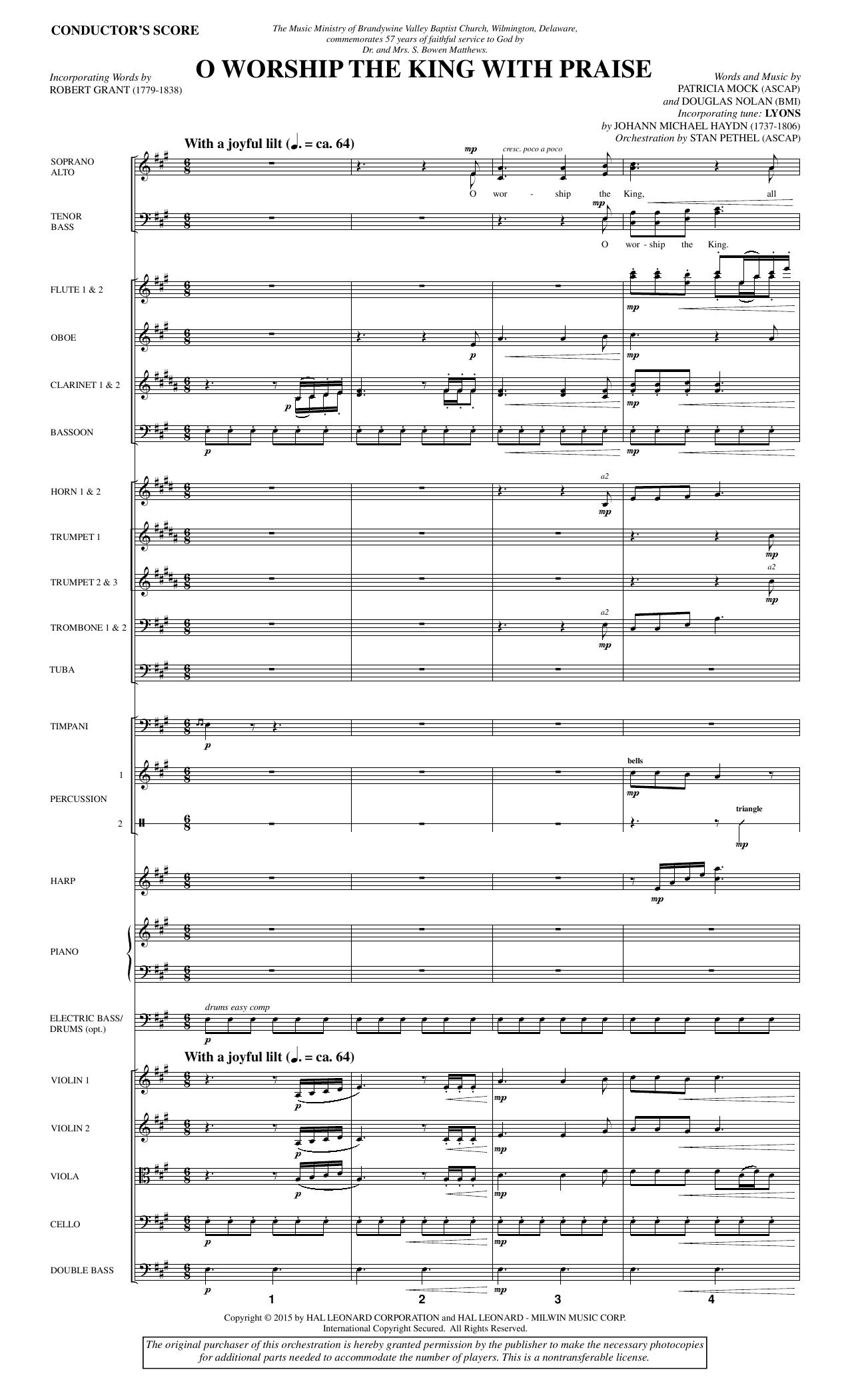 O Worship the King with Praise - Full Score sheet music