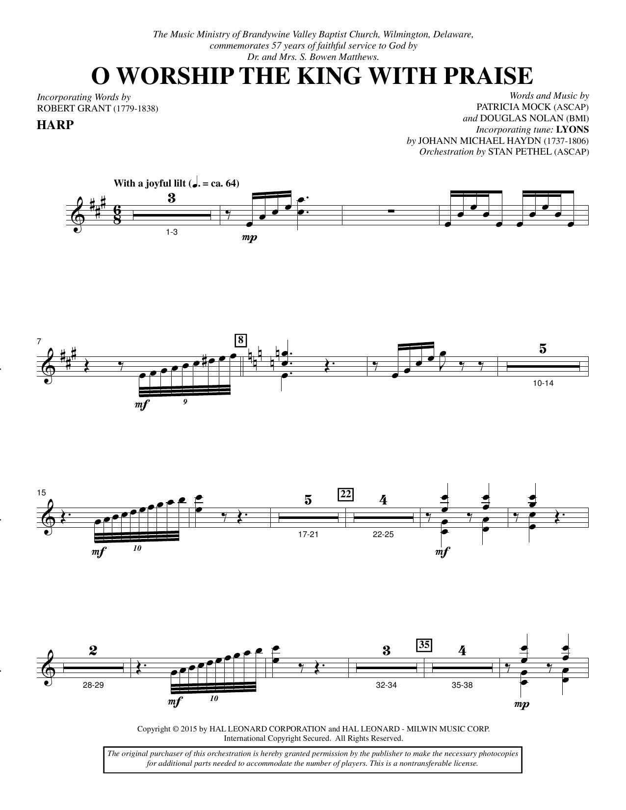 O Worship the King with Praise - Harp sheet music