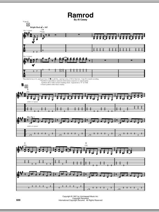 Ramrod sheet music