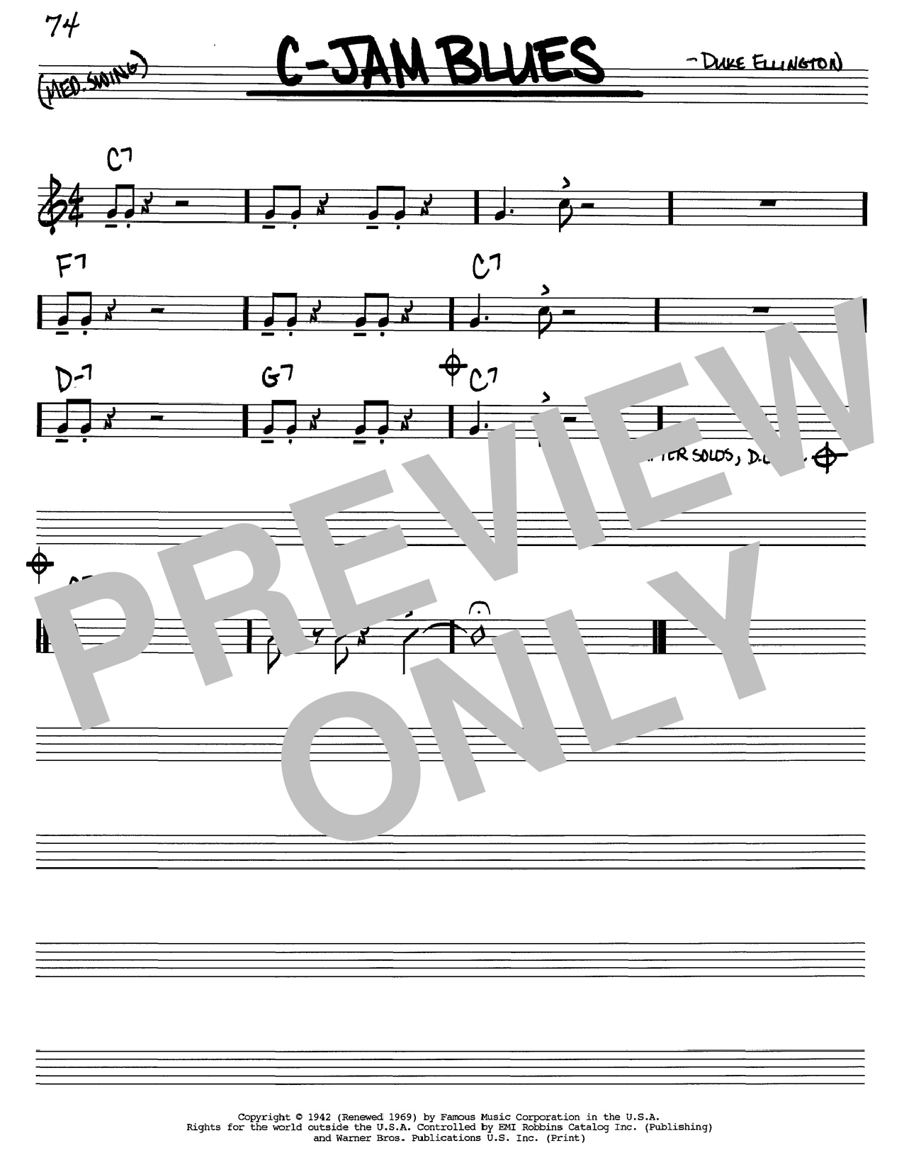 C-Jam Blues sheet music