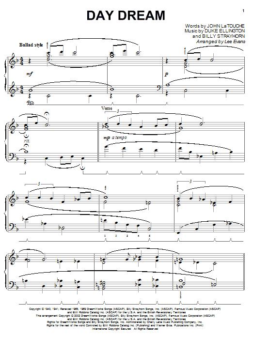 Day Dream sheet music