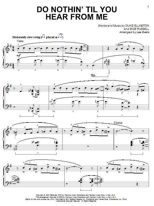 Do Nothin' Till You Hear From Me sheet music