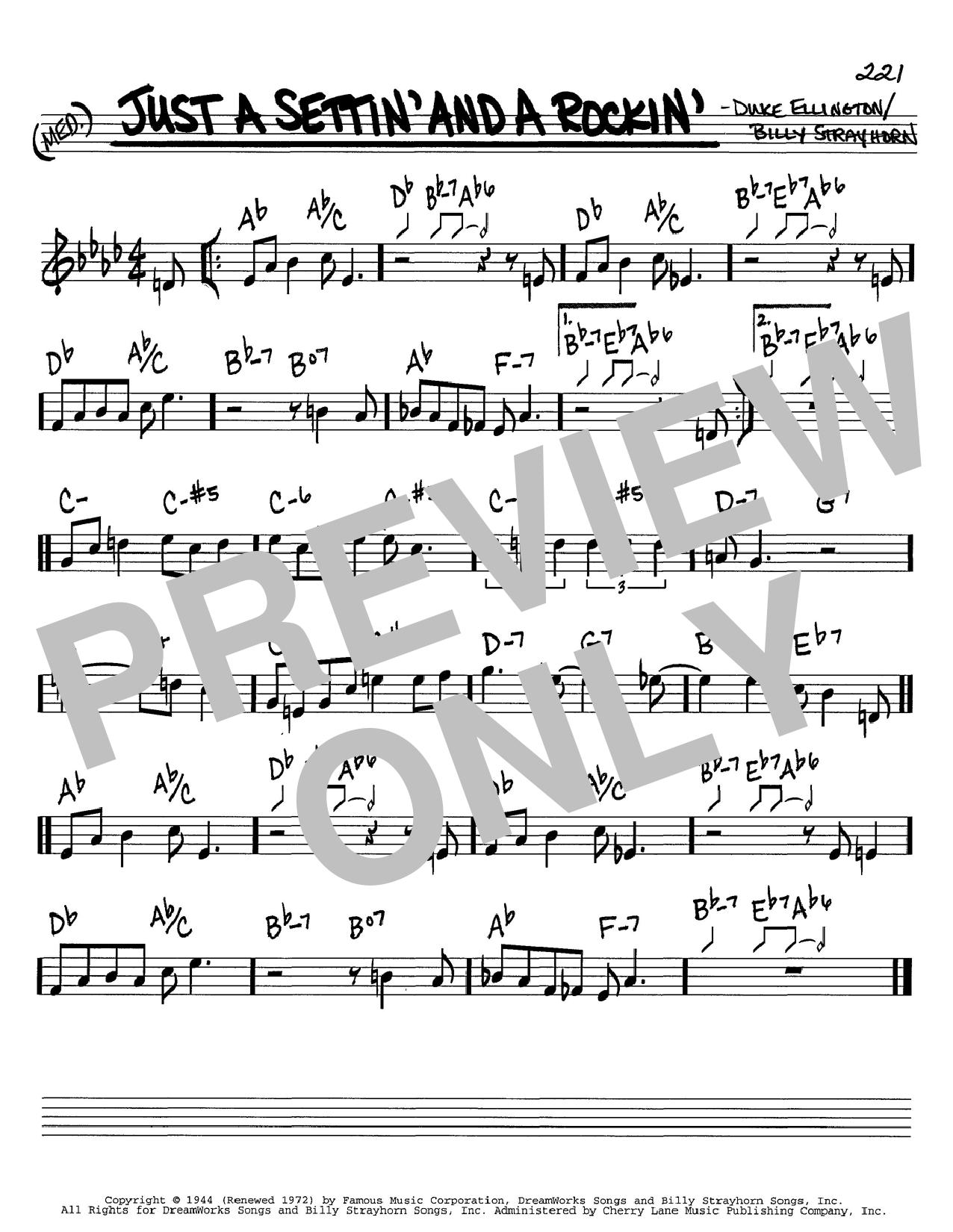 Just A Settin' And A Rockin' sheet music