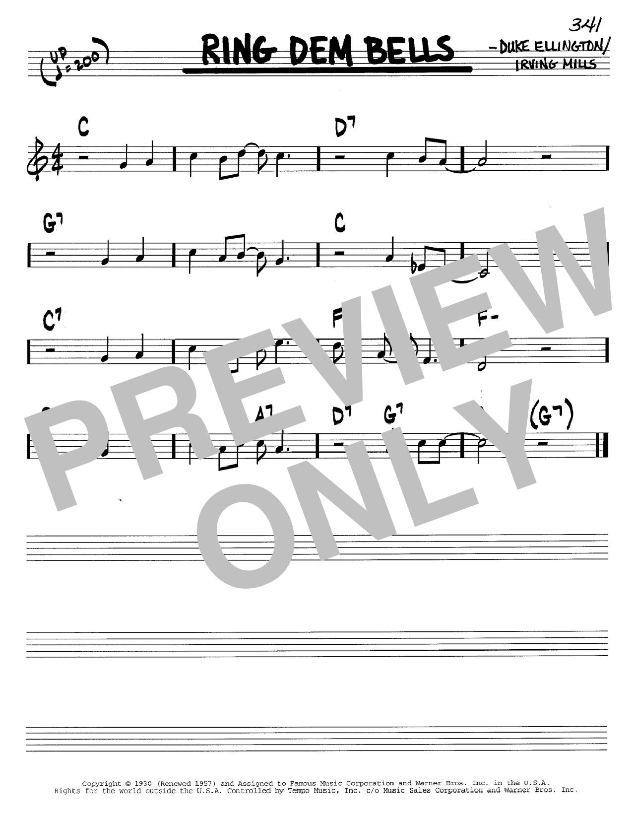 Ring Dem Bells sheet music