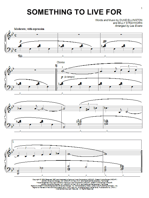 Something To Live For sheet music