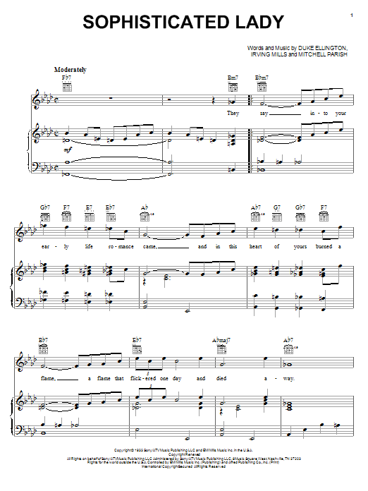 Sophisticated Lady sheet music
