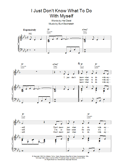 I Just Don't Know What To Do With Myself sheet music