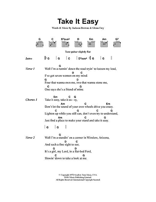 Take It Easy sheet music