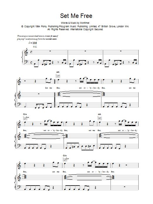 Set Me Free sheet music