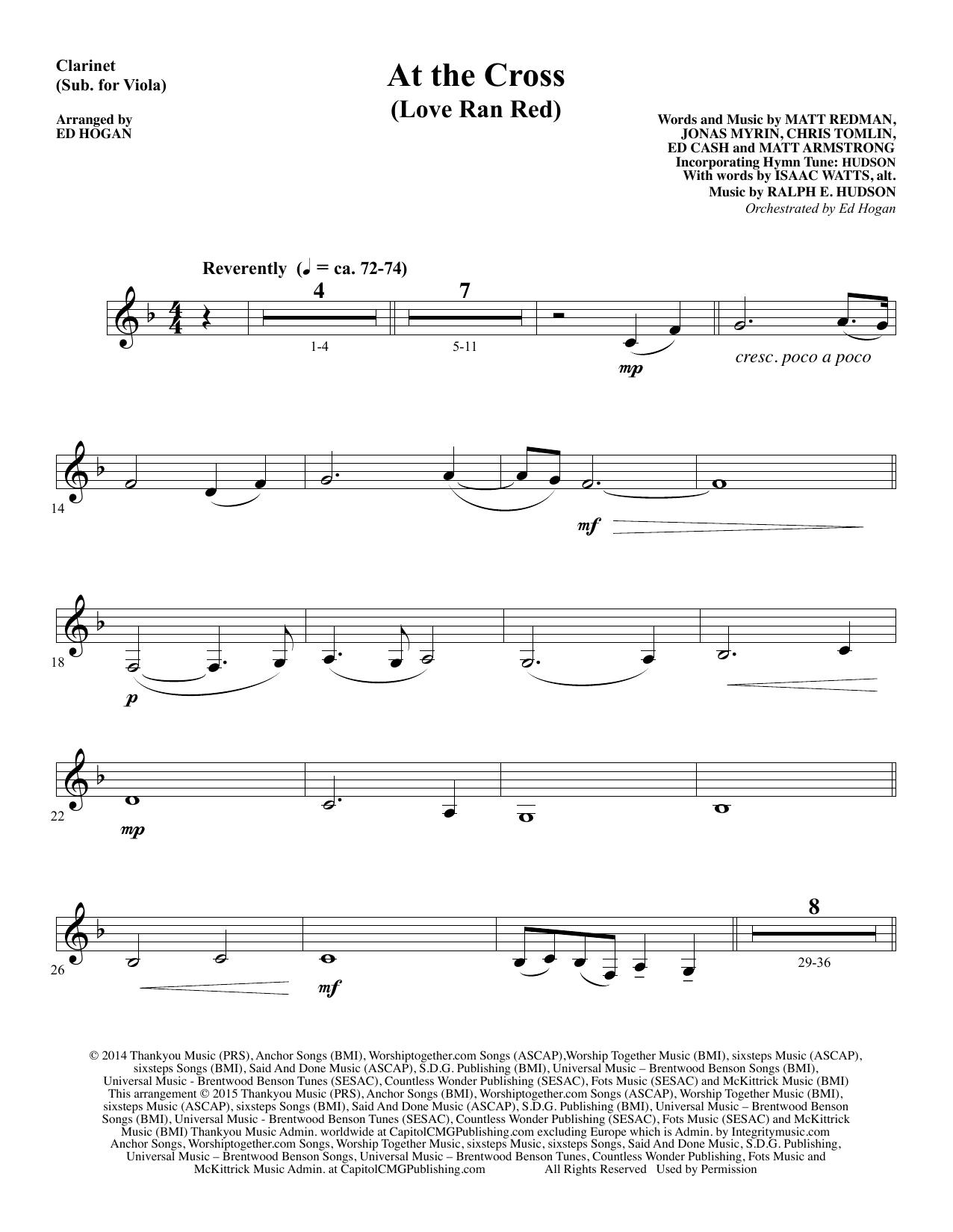 At the Cross - Clarinet (sub Viola) sheet music