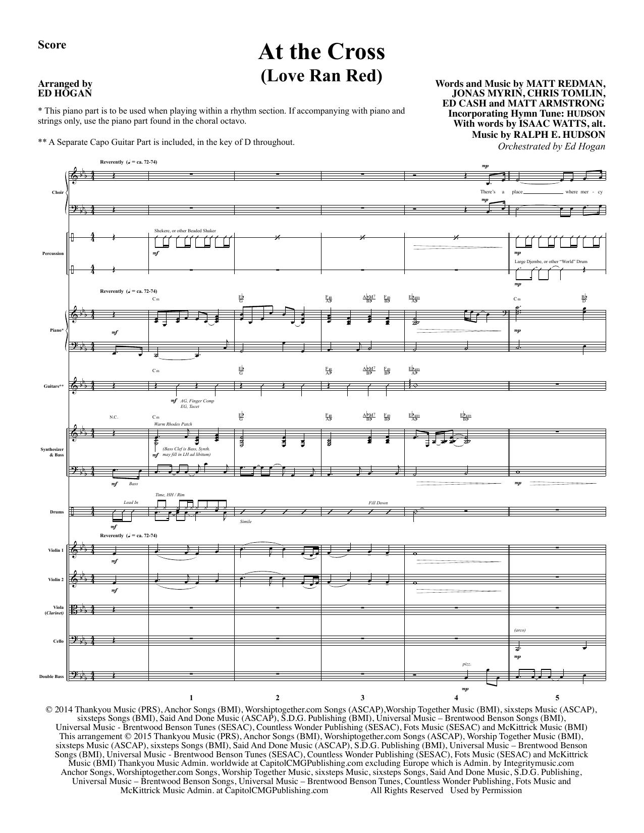At the Cross - Full Score sheet music