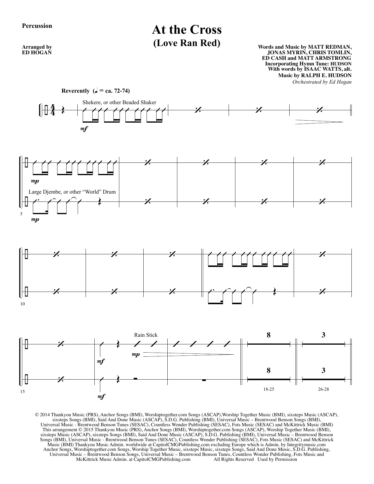 At the Cross - Percussion sheet music