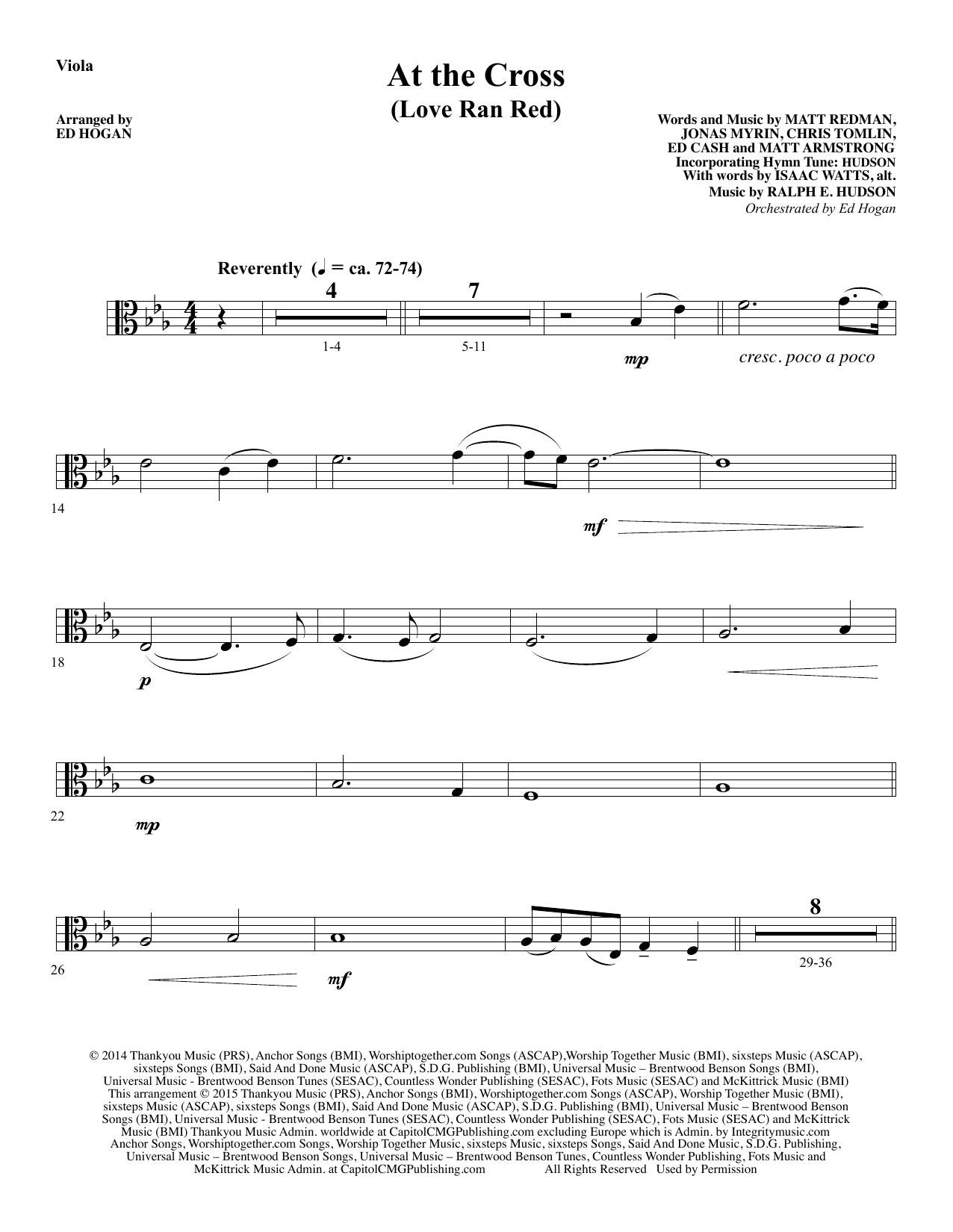 At the Cross - Viola sheet music