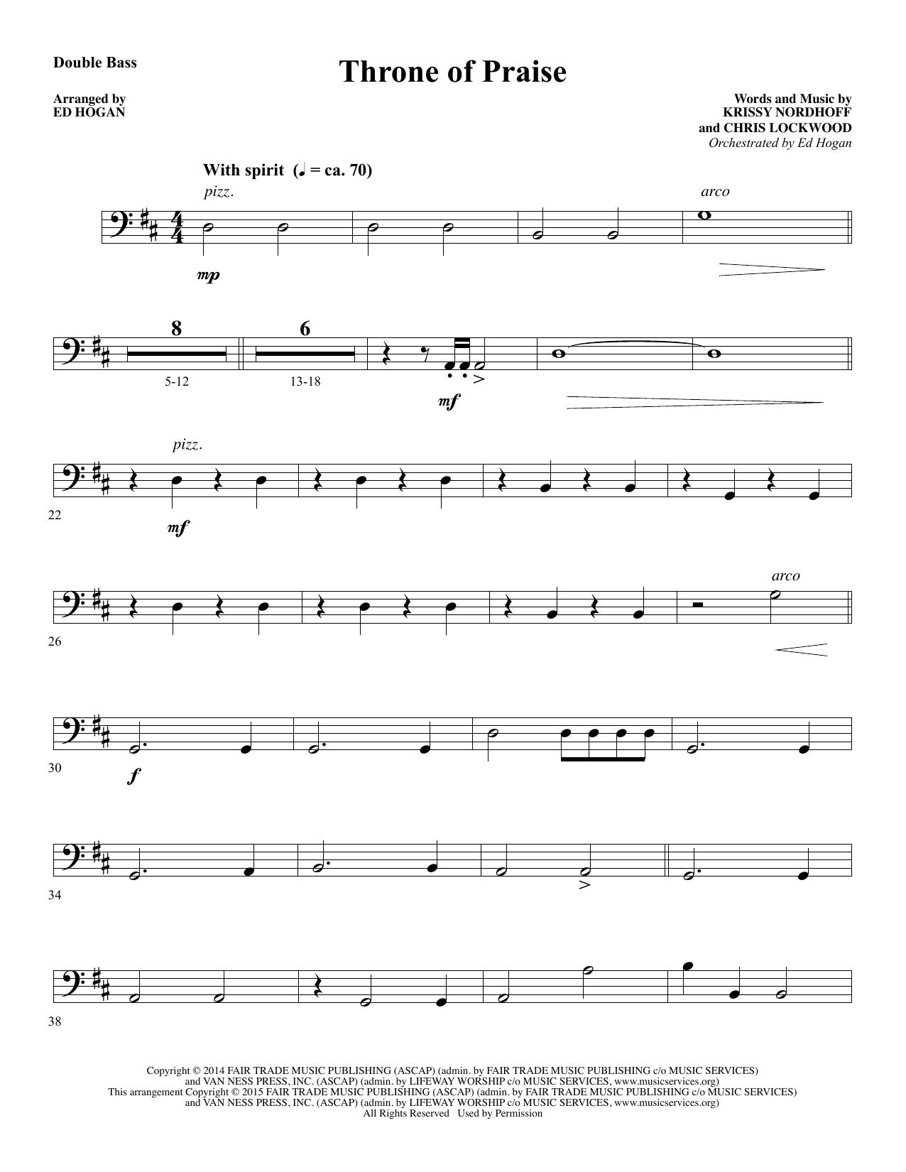 Throne of Praise - Double Bass sheet music