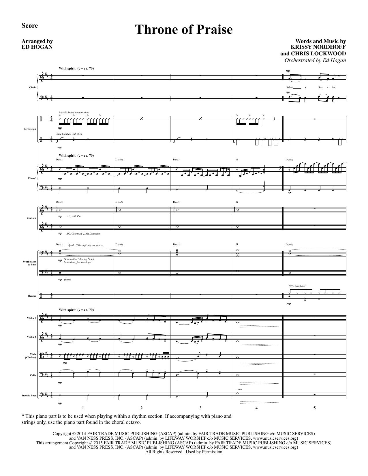 Throne of Praise - Full Score sheet music
