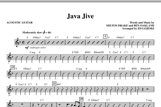Java Jive (SATB Octavo Accompaniment Parts) - Acoustic Guitar sheet music