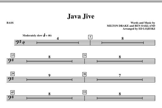 Java Jive (TTBB Octavo Accompaniment Parts) - Bass sheet music