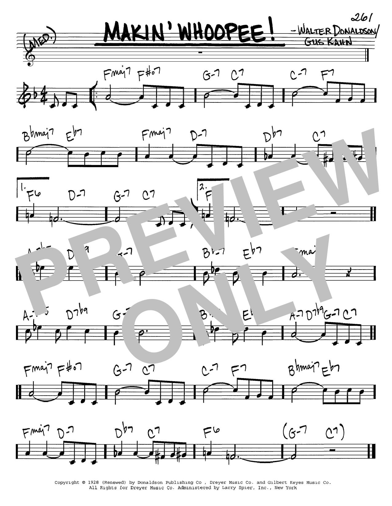 Makin' Whoopee! sheet music