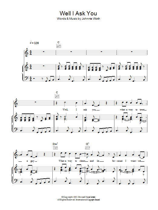 Well I Ask You sheet music