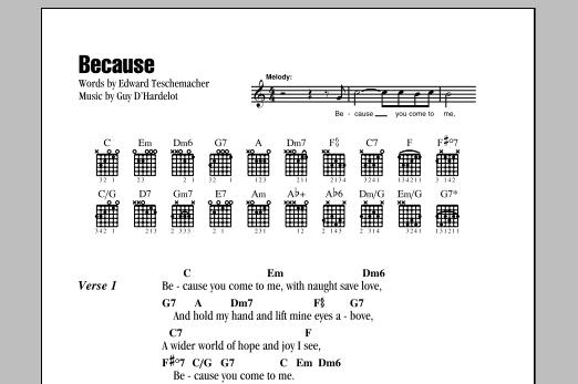 Because sheet music