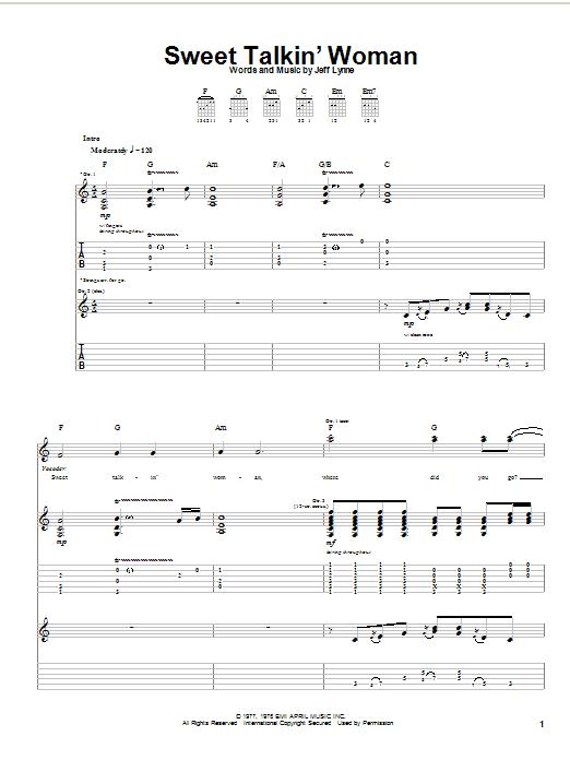 Sweet Talkin' Woman sheet music