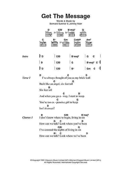 Get The Message sheet music