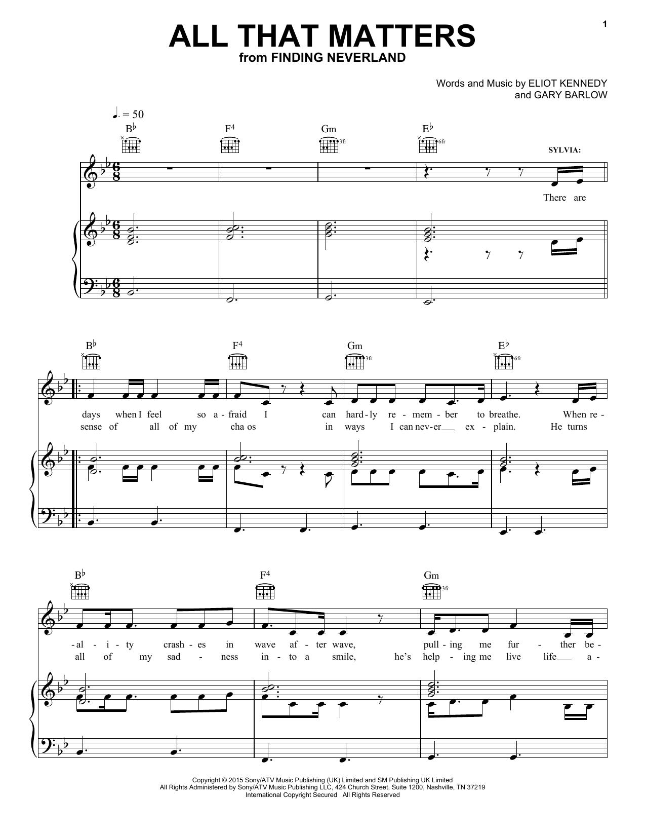 All That Matters sheet music