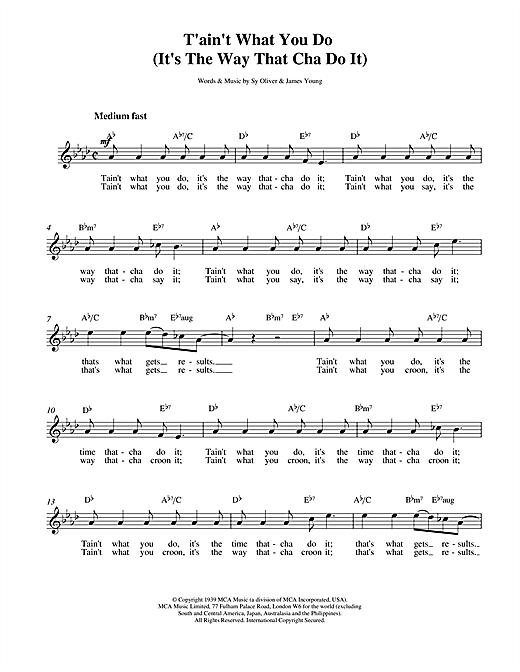 Tain't What You Do sheet music
