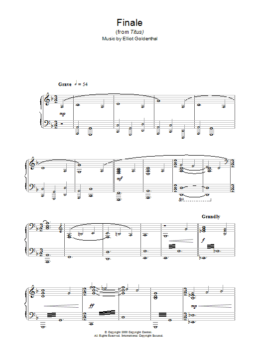 Finale (from Titus) sheet music
