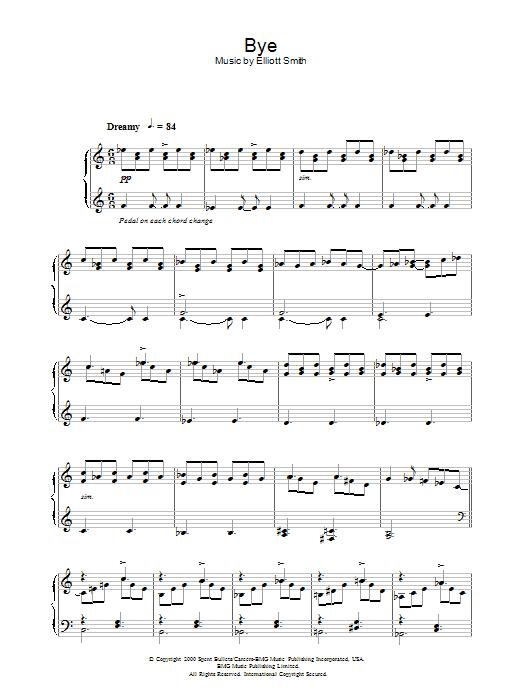 Bye sheet music