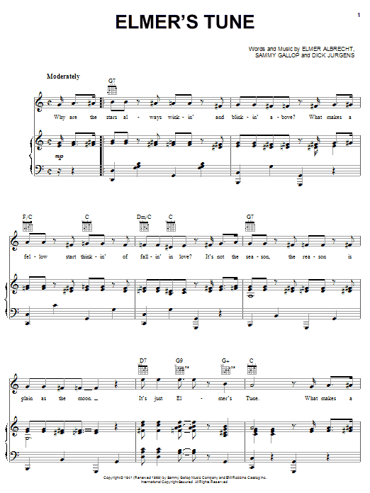 Elmer's Tune sheet music
