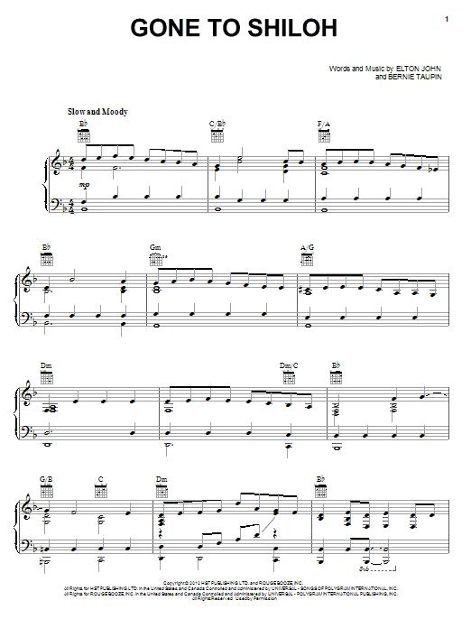 Gone To Shiloh sheet music