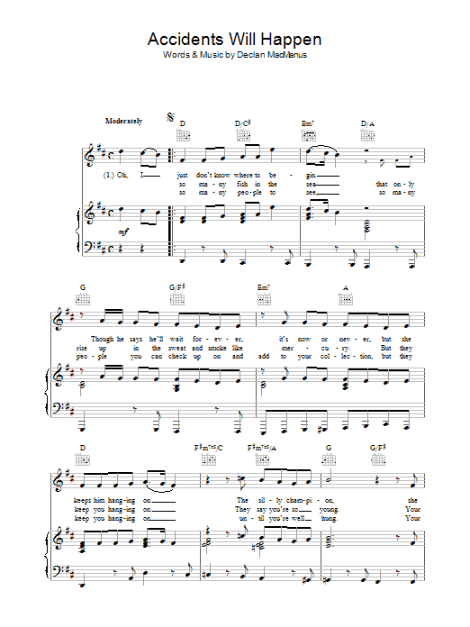 Accidents Will Happen sheet music