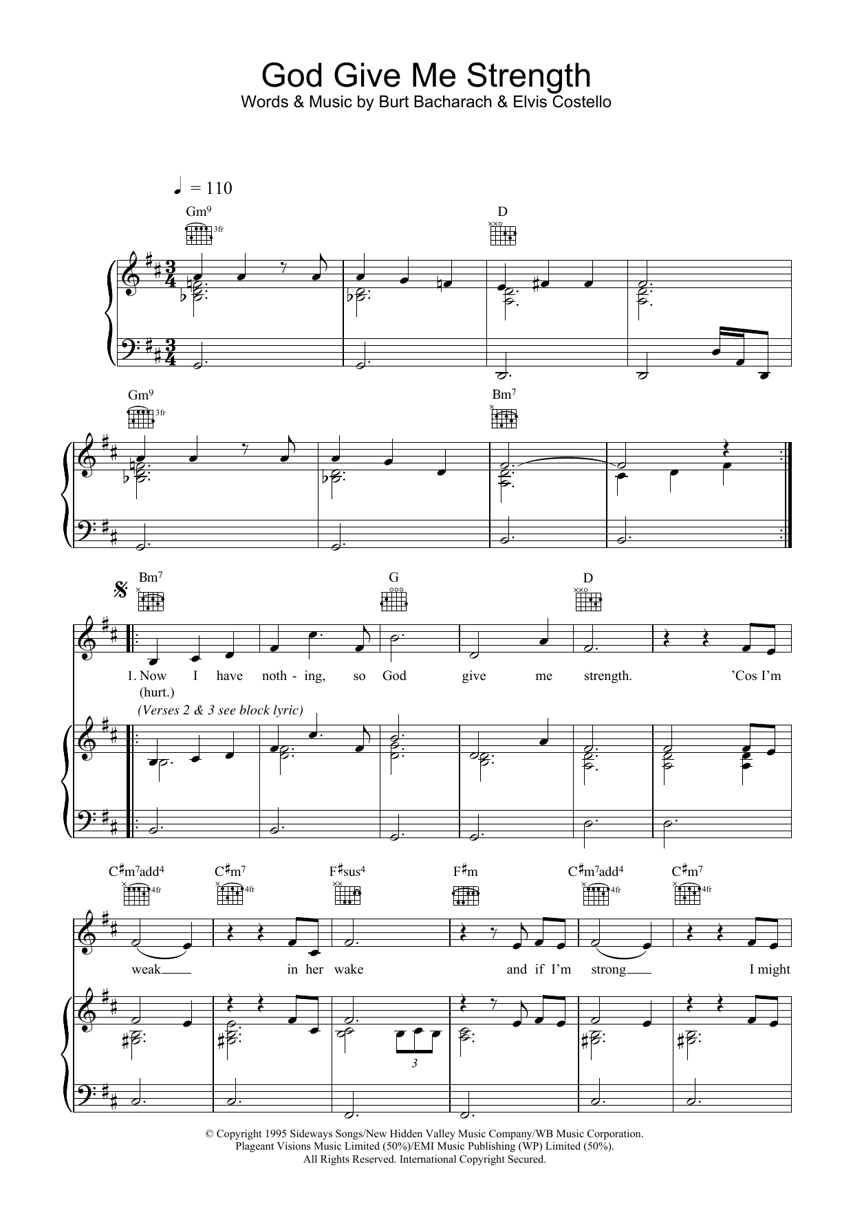 God Give Me Strength sheet music