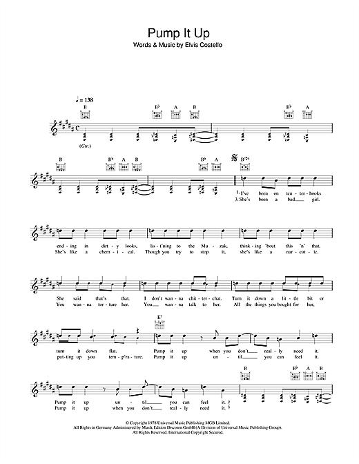 Pump It Up sheet music
