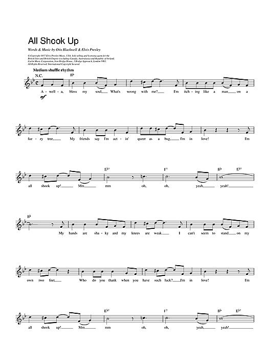 All Shook Up sheet music