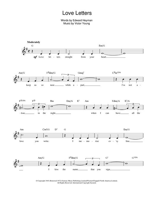Love Letters sheet music